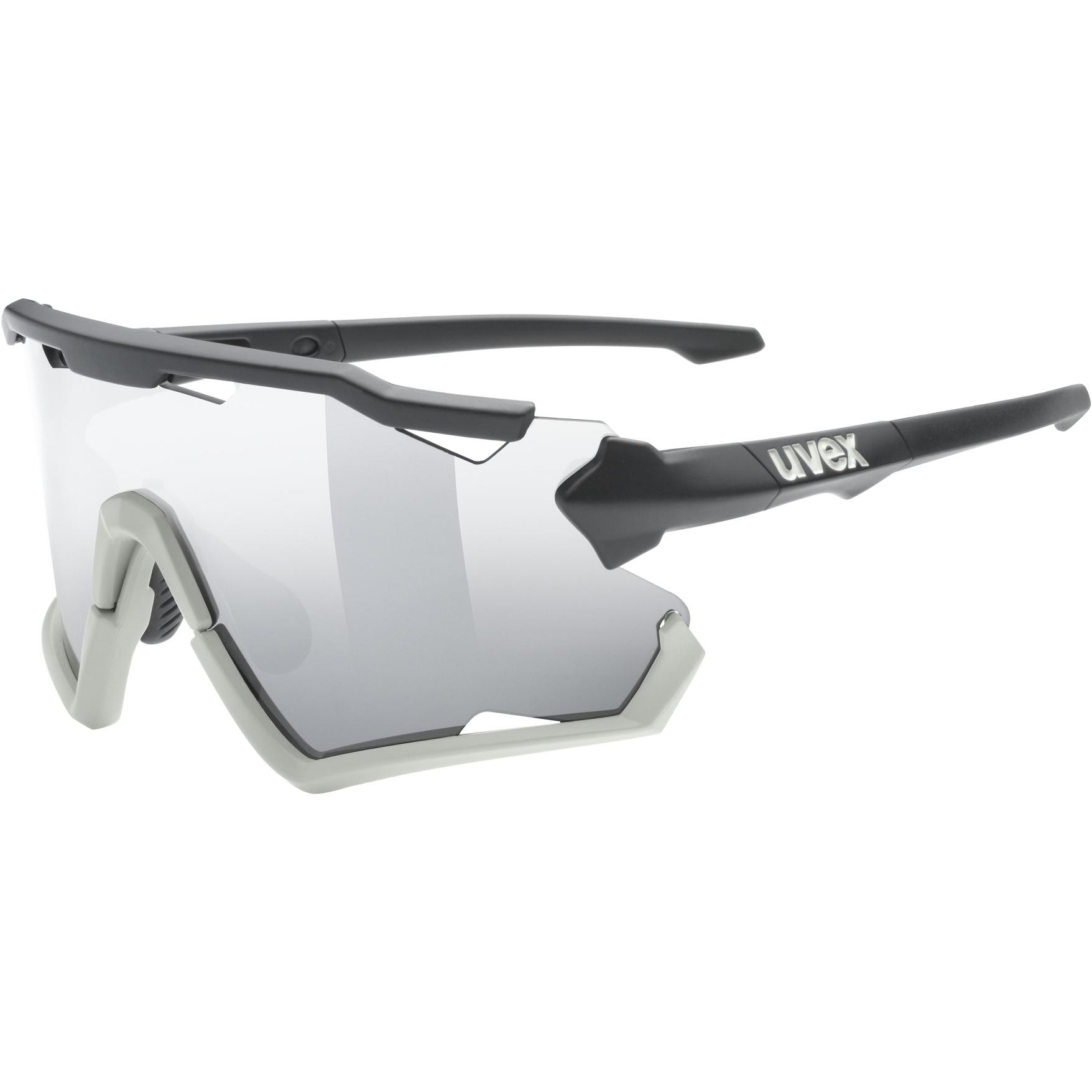 Uvex sportstyle 228 Brille - black sand mat/mirror silver