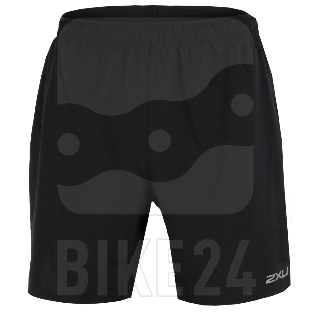 """2XU XVENT 7"""" Free Shorts with Brief - black/silver reflective"""