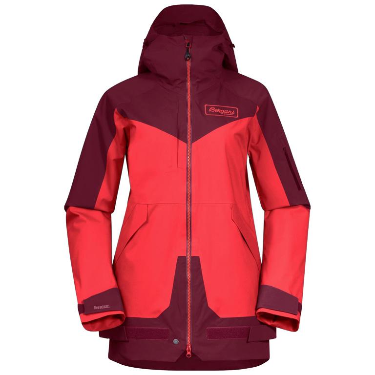 Bergans Myrkdalen V2 Insulated Women's Jacket - Light Dahlia Red / Beet Red / Be Seen Yellow