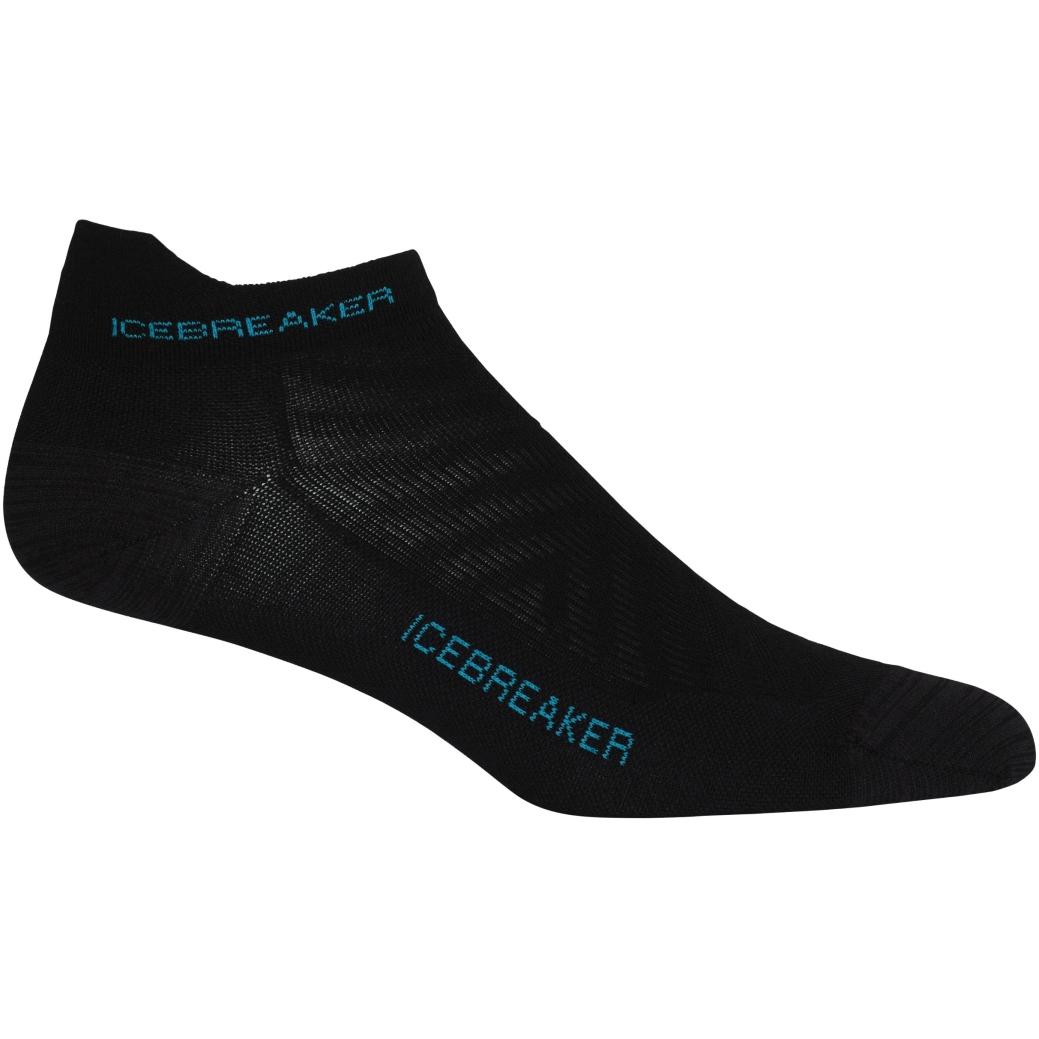 Produktbild von Icebreaker Run+ Ultralight Micro Damen Socken - Black/Arctic Teal