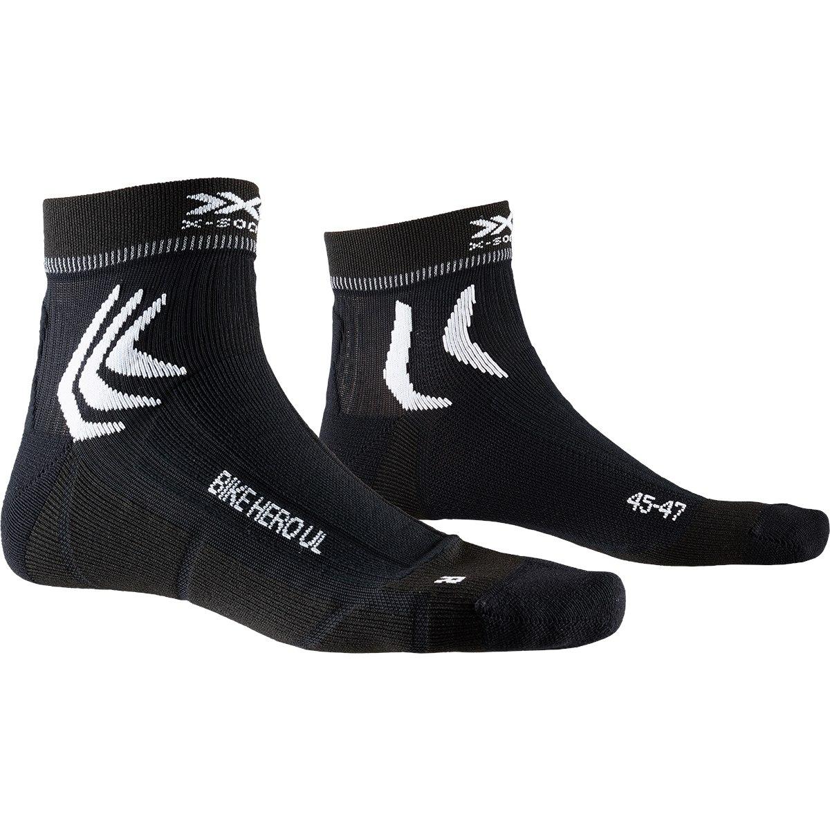 X-Socks Bike Hero UL Socken - opal black/arctic white