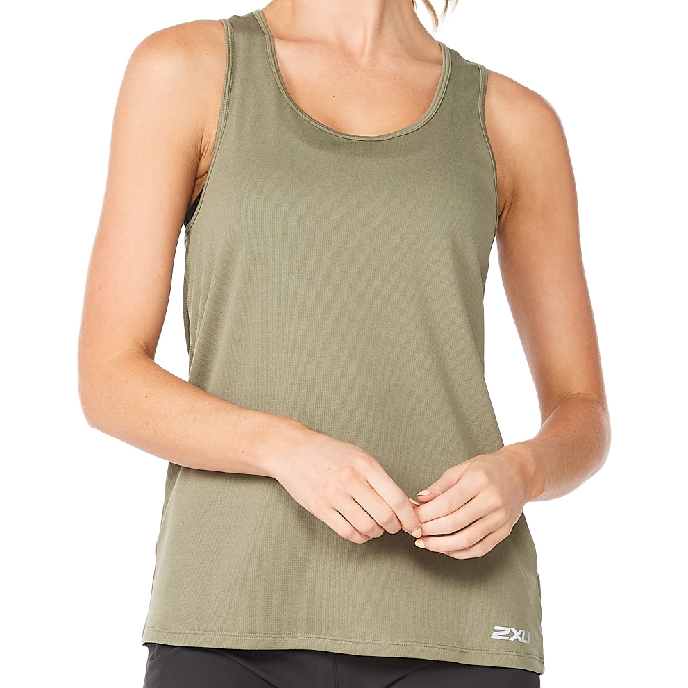 Imagen de 2XU Aero Camiseta de tirantes para mujer - alpine/silver reflective