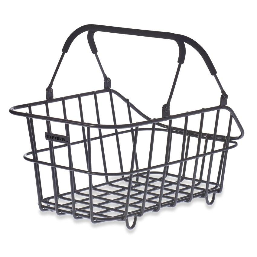 Basil Cento Alu Multi System Bike Basket - matt black