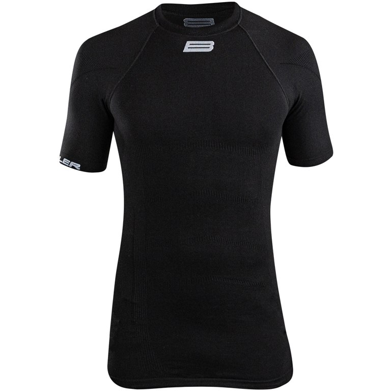 Image of Biehler Seamless Pro Short Sleeved Baselayer Undershirt - black