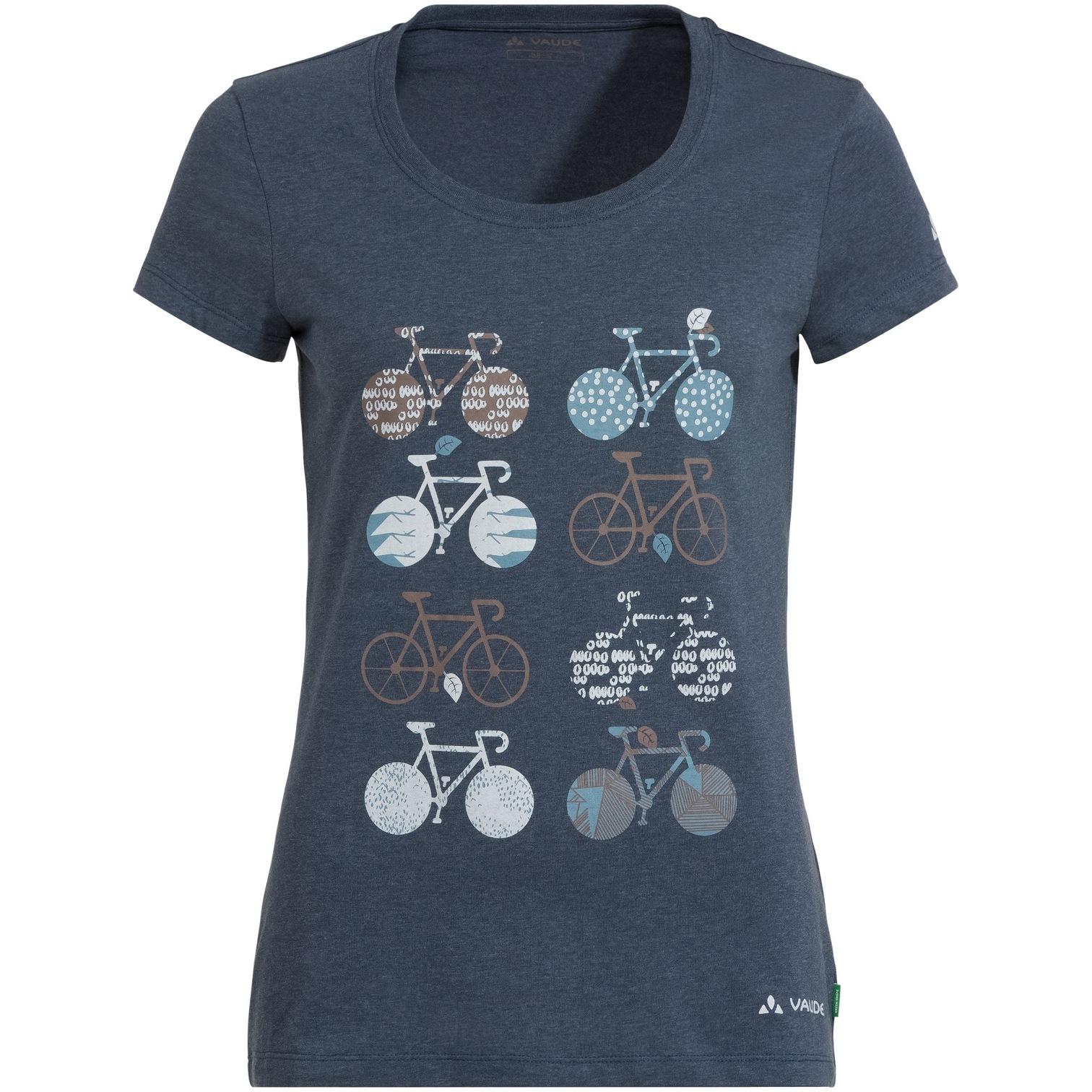 Vaude Cyclist Damen T-Shirt V - steelblue
