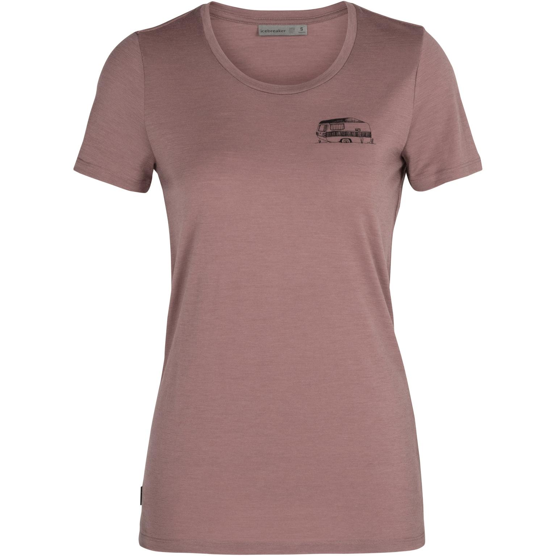Bild von Icebreaker Tech Lite Low Crewe Caravan Life Damen T-Shirt - Suede