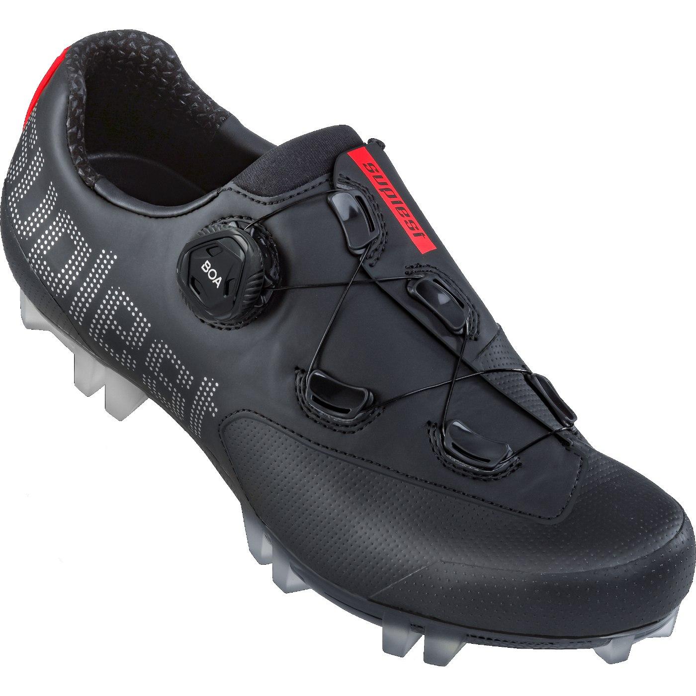 Image of Suplest EDGE+ BOA L6 Crosscountry Sport Shoe - Black / Silver 02.042.