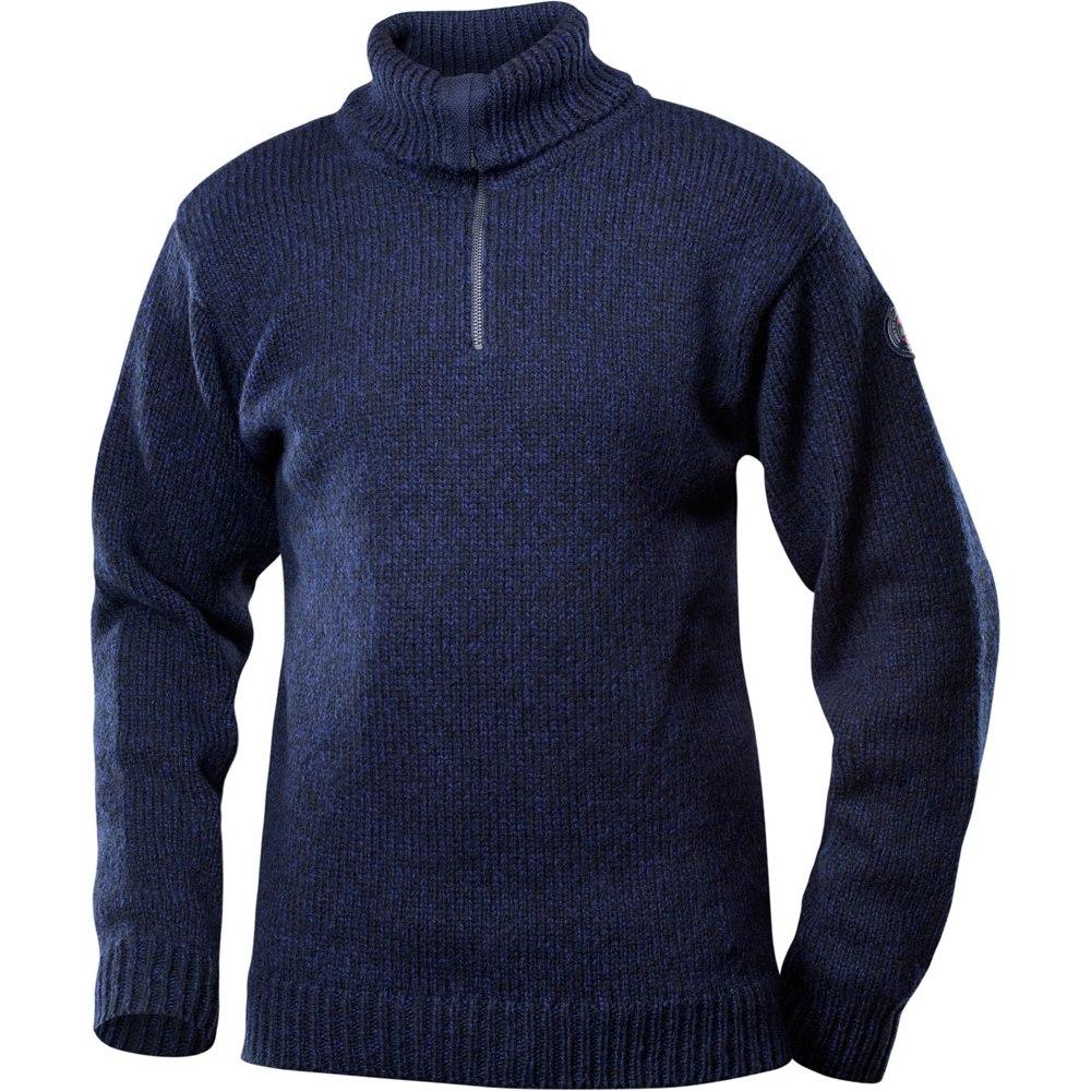 Devold Nansen Sweater Zip Neck - 280 dark blue melange