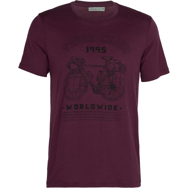 Icebreaker Tech Lite Crewe Tour Club 1995 Herren T-Shirt - Brazilwood