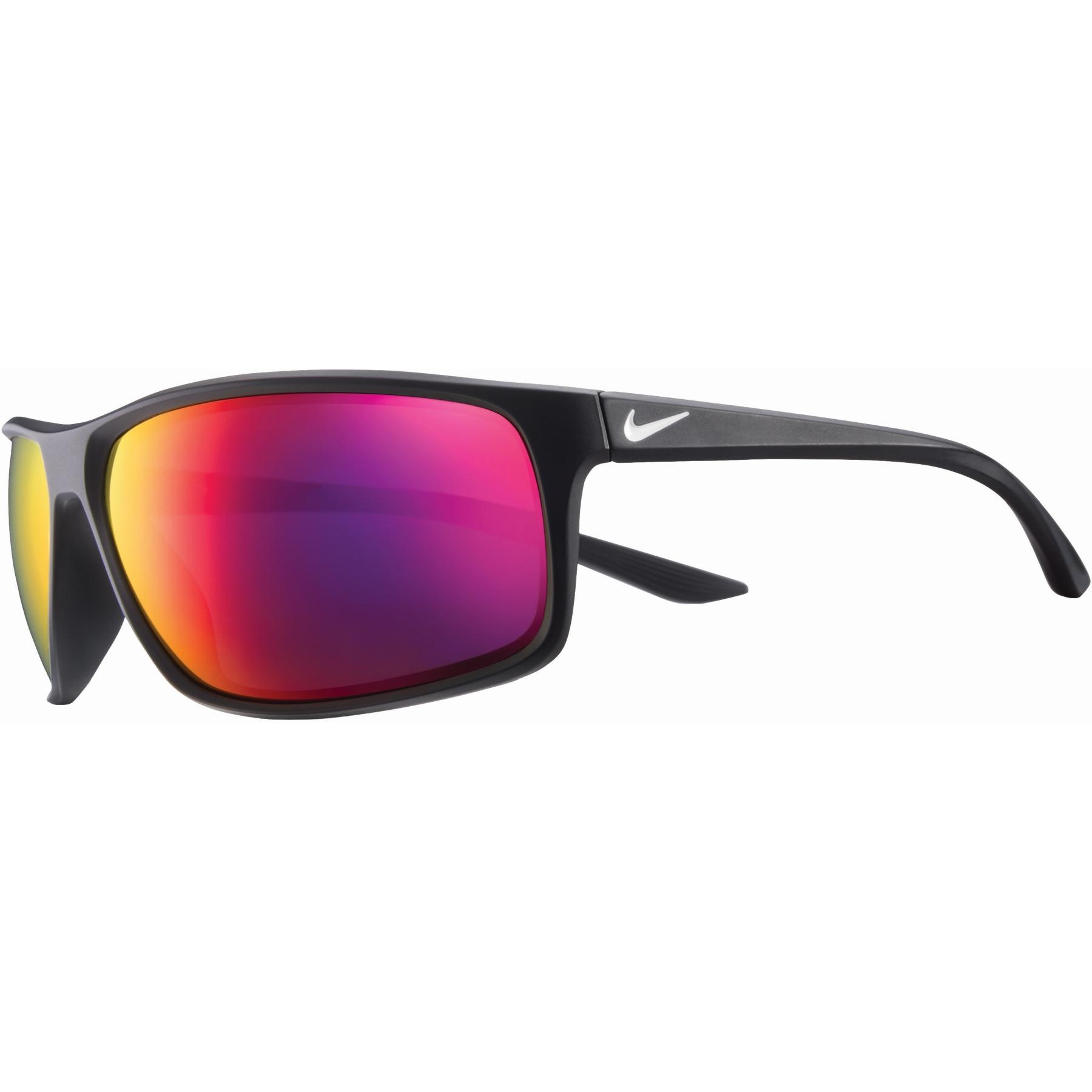 Produktbild von Nike Adrenaline Sonnenbrille - matte black/white   grey w/ infrared mirror lens 6615016