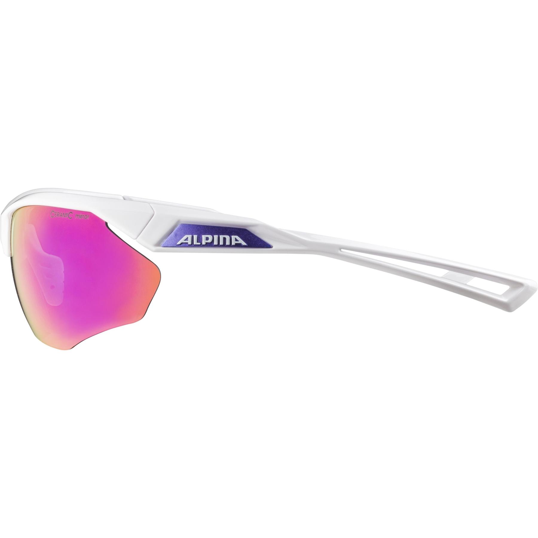 Image of Alpina Nylos HR Glasses - white-purple / purple mirror