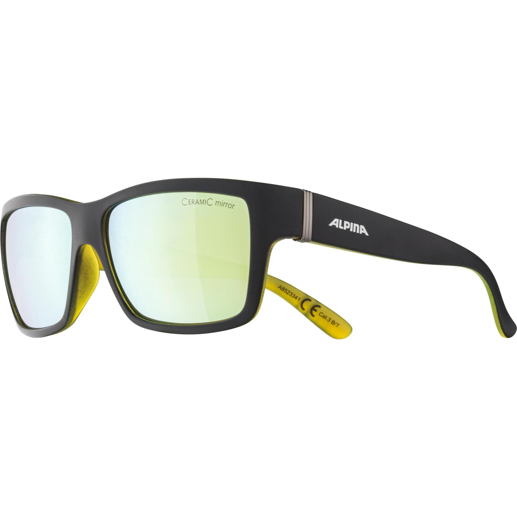 Image of Alpina Kacey Glasses - Black Matt-Neon/CeramiC Gold Mirror