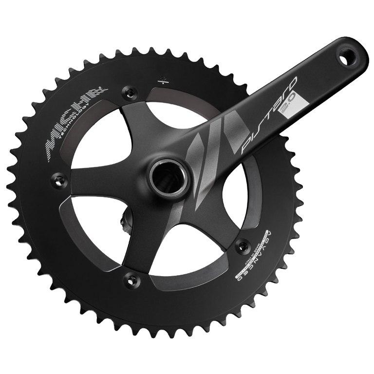 Miche Pistard 2.0 Bahnrad Kurbelgarnitur - schwarz