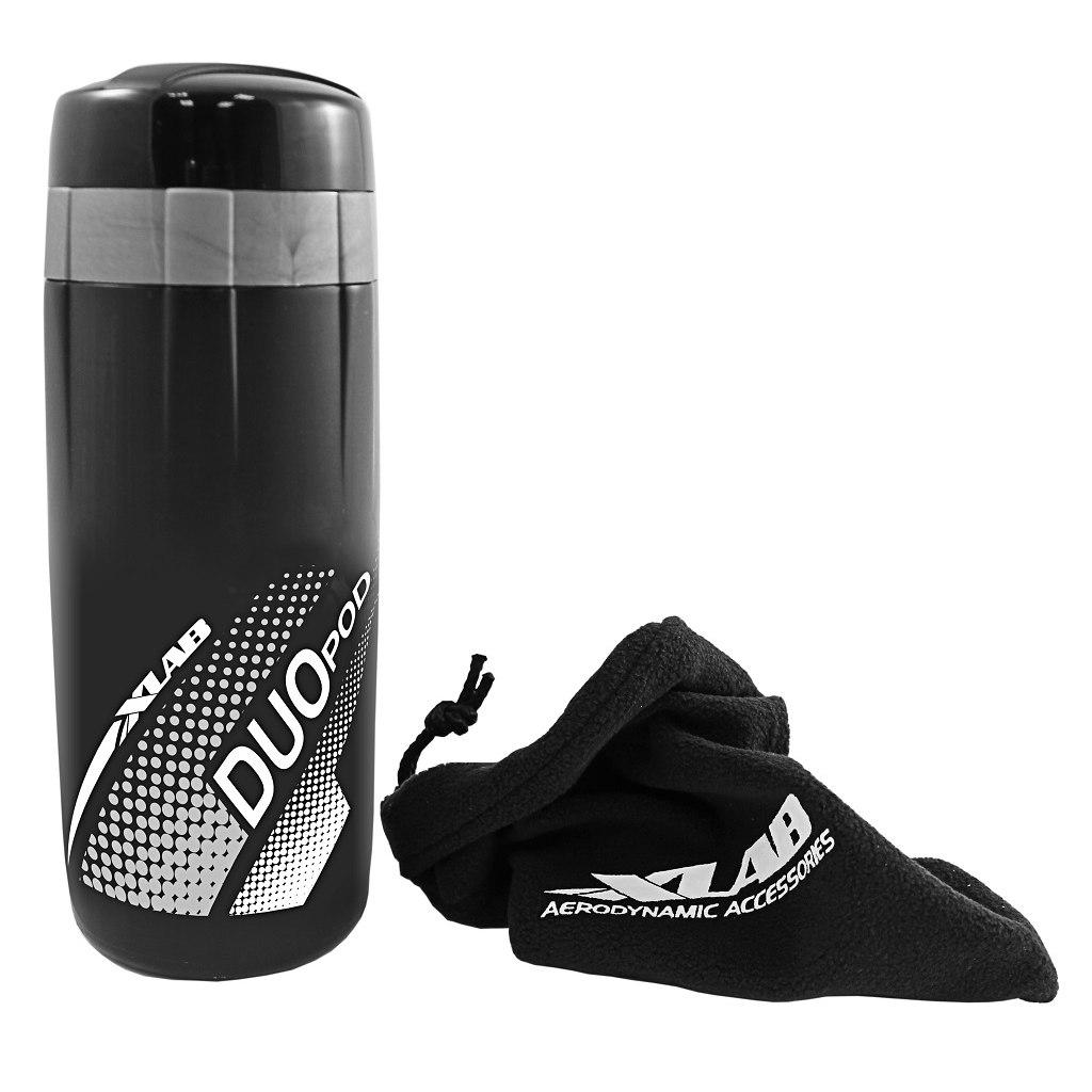 XLAB Duo Pod Tool Bottle - black/silver