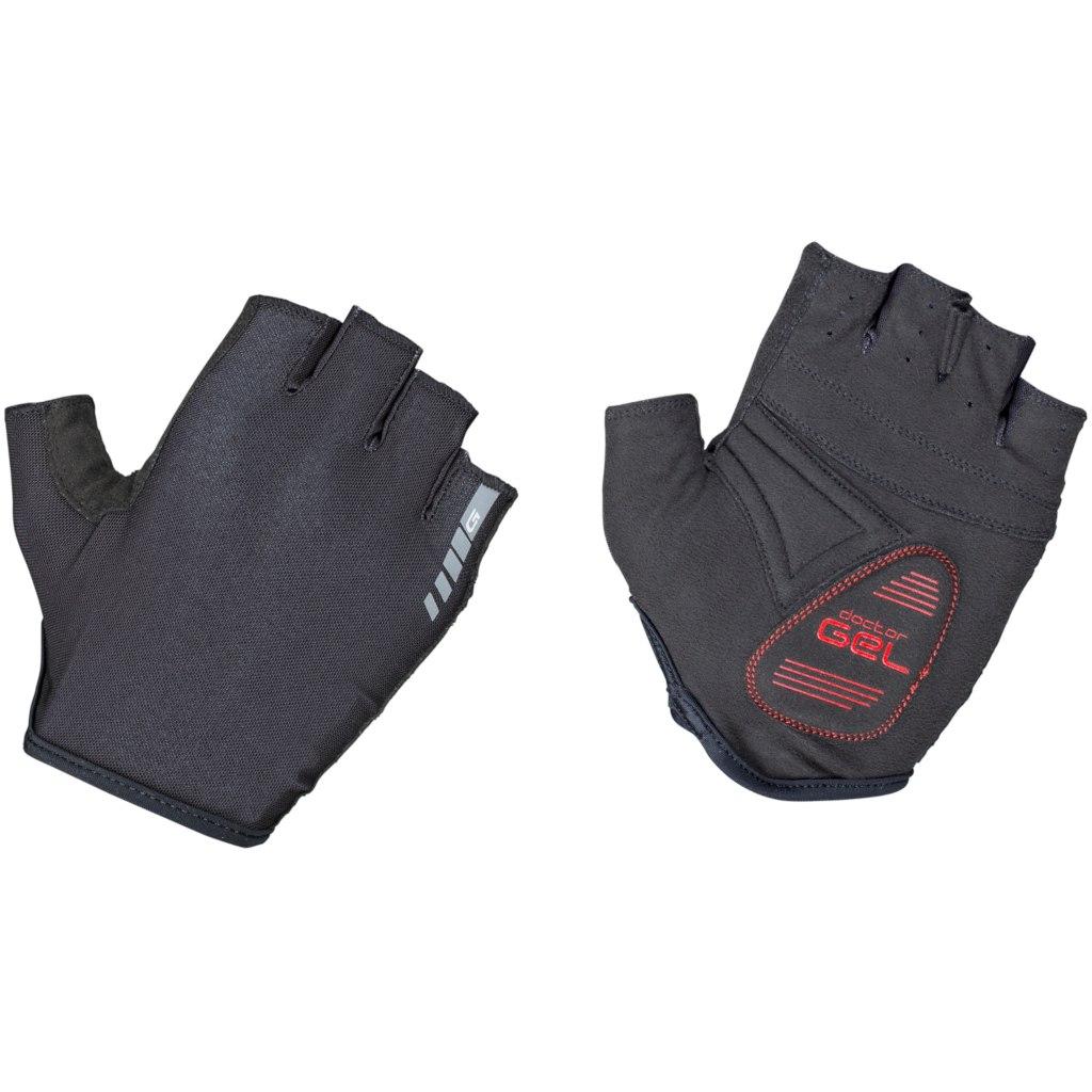 GripGrab Solara Padded Tan Through Short Finger Glove - Black