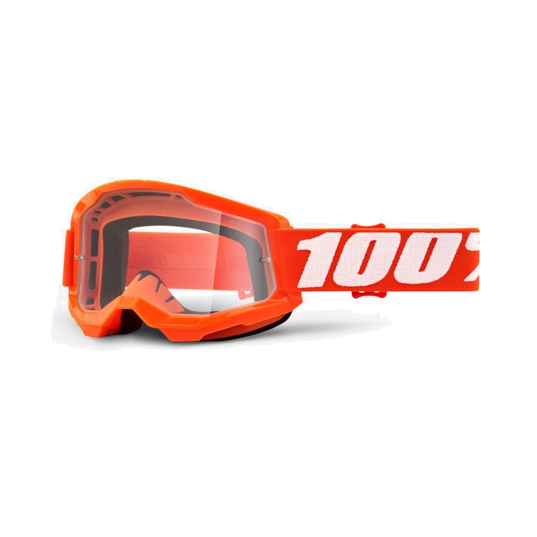 100% Strata 2 Goggle Clear Lens Gafas - Orange