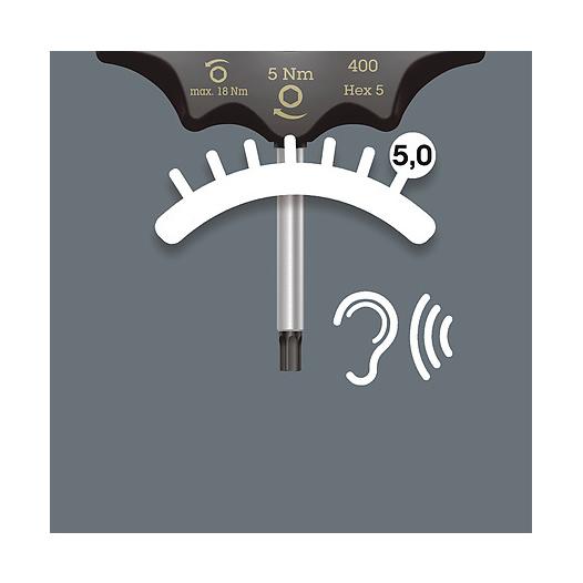 Bild von Wera 400 TX Drehmomentindikator Torx 25 / 5,0 Nm