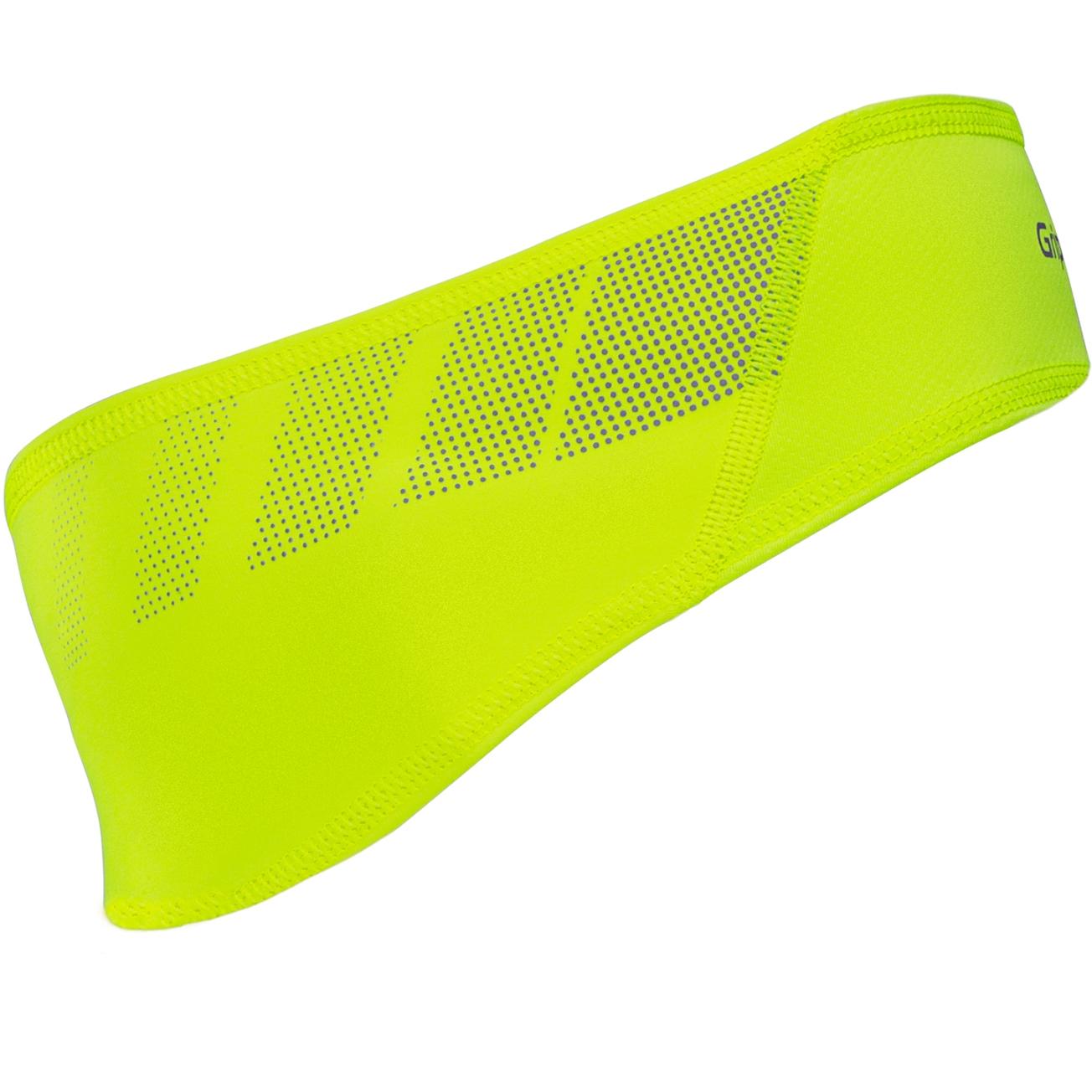 GripGrab Windproof Hi-Vis Headband - Yellow Hi-Vis