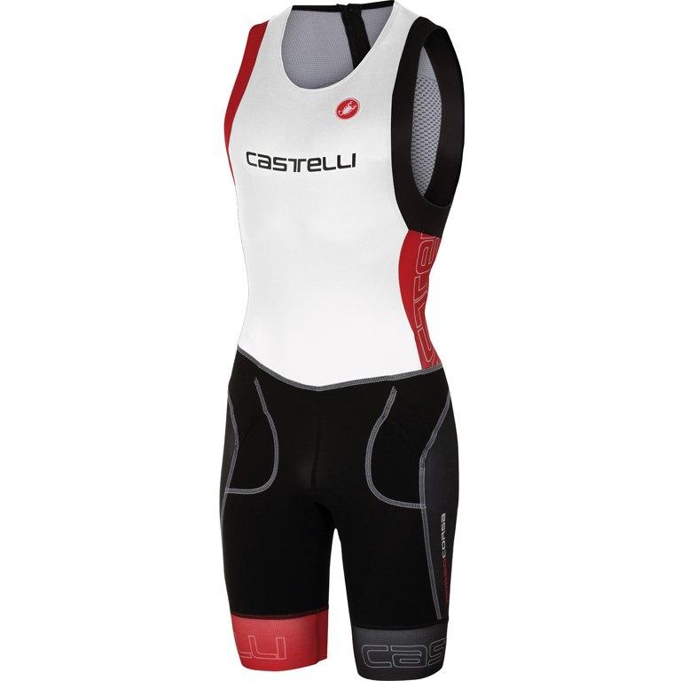 Castelli Free Tri ITU Suit 16072 - white/red 123