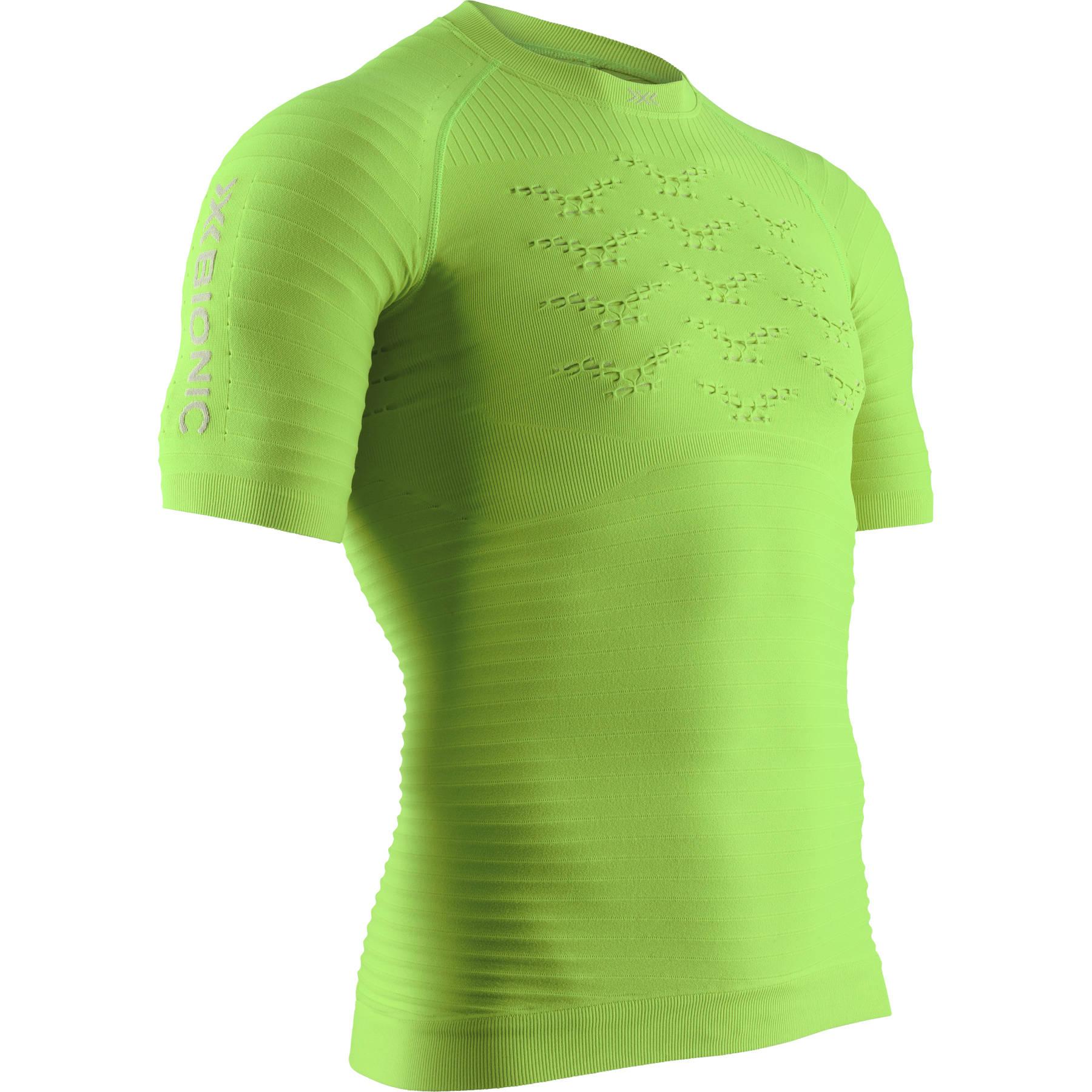 X-Bionic Effektor 4.0 Run Kurzarm-Laufshirt für Herren - effektor green/arctic white