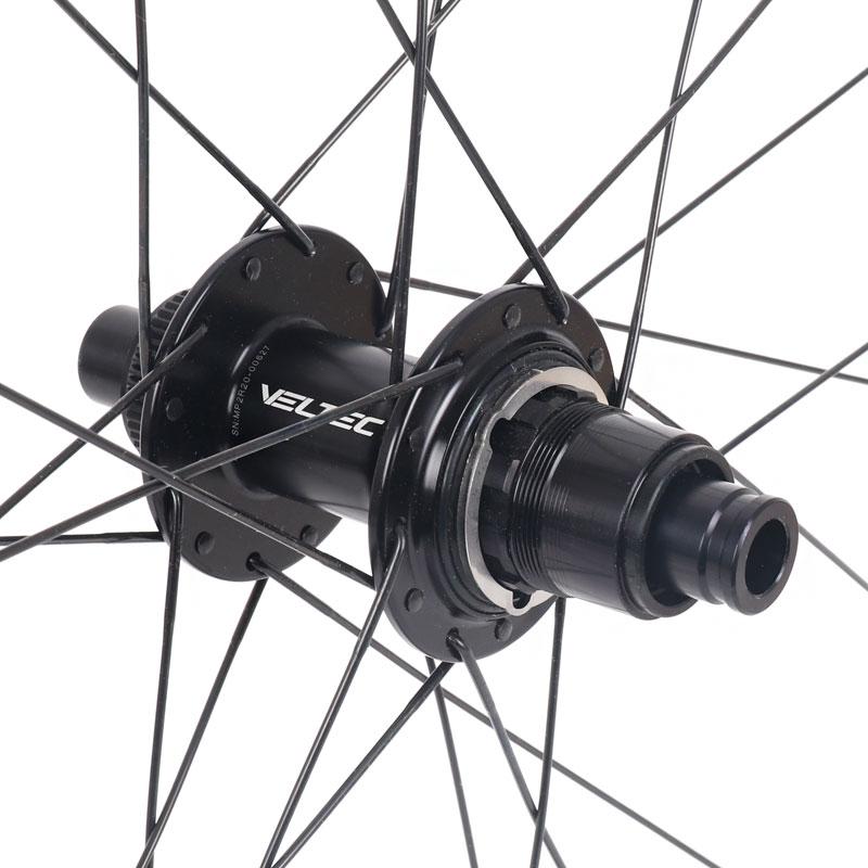 Bild von Veltec Speed XCR 30 Disc Carbon Hinterrad - Drahtreifen - 12x142mm - SRAM XDR - schwarz mit weißen Decals
