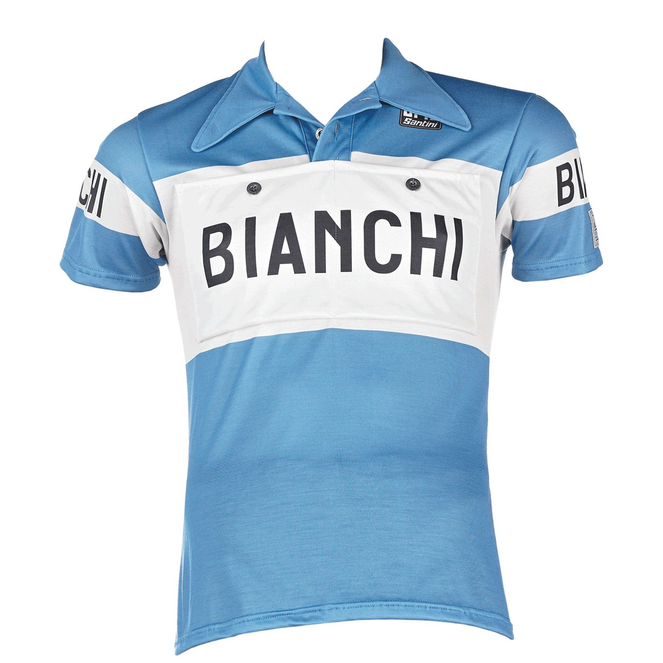Bianchi Eroica Merino Wool Short Sleeve Jersey - blue