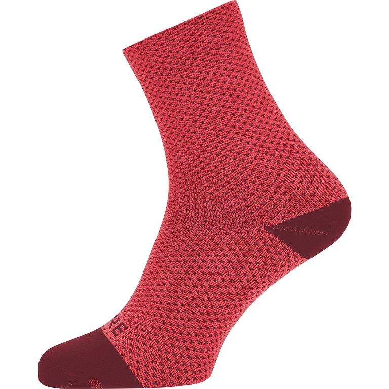 GORE Wear C3 Dot Mid Socks - hibiscus pink/chestnut red AKAJ