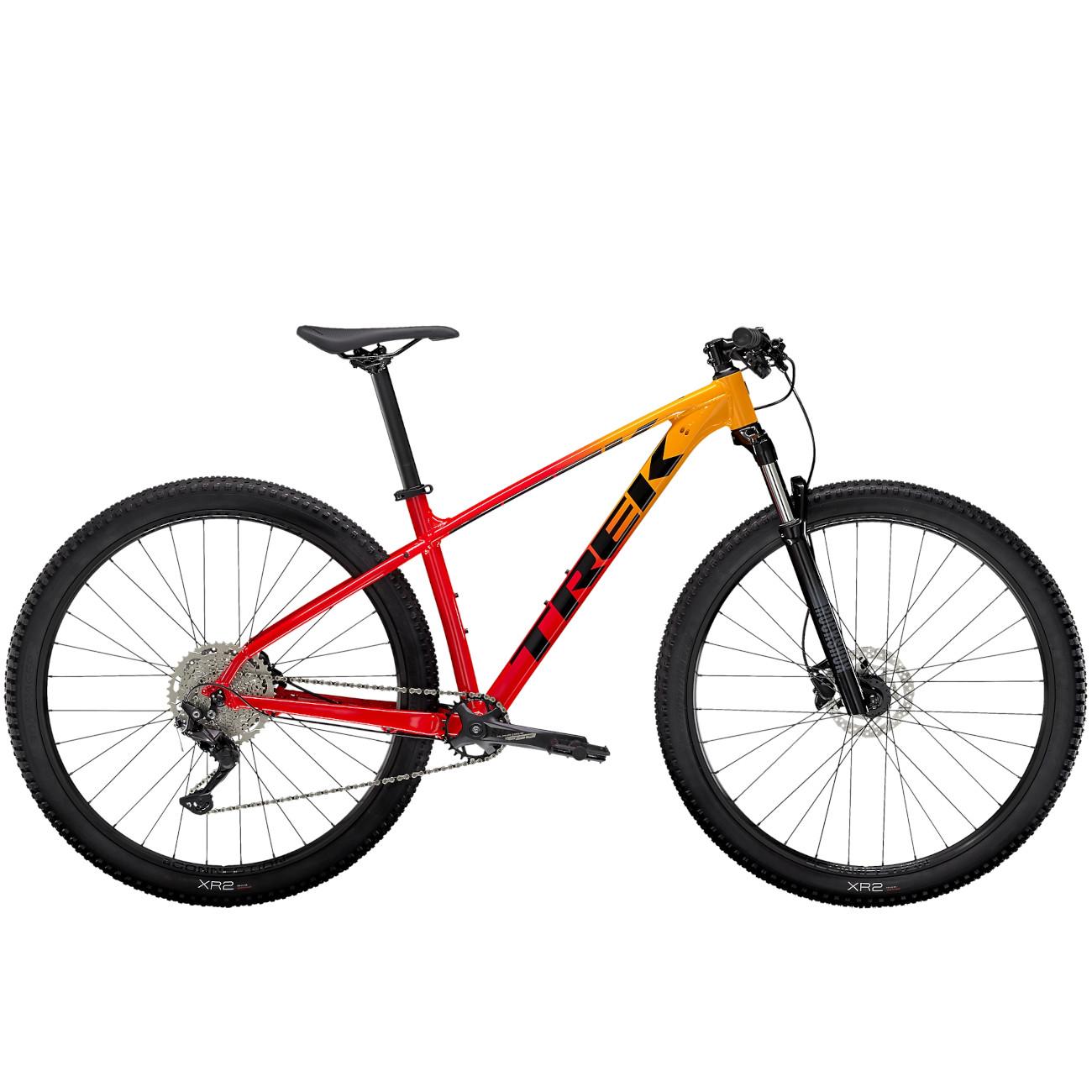 Trek MARLIN 7 Mountainbike - 2022 - Marigold to Radioactive Red Fade
