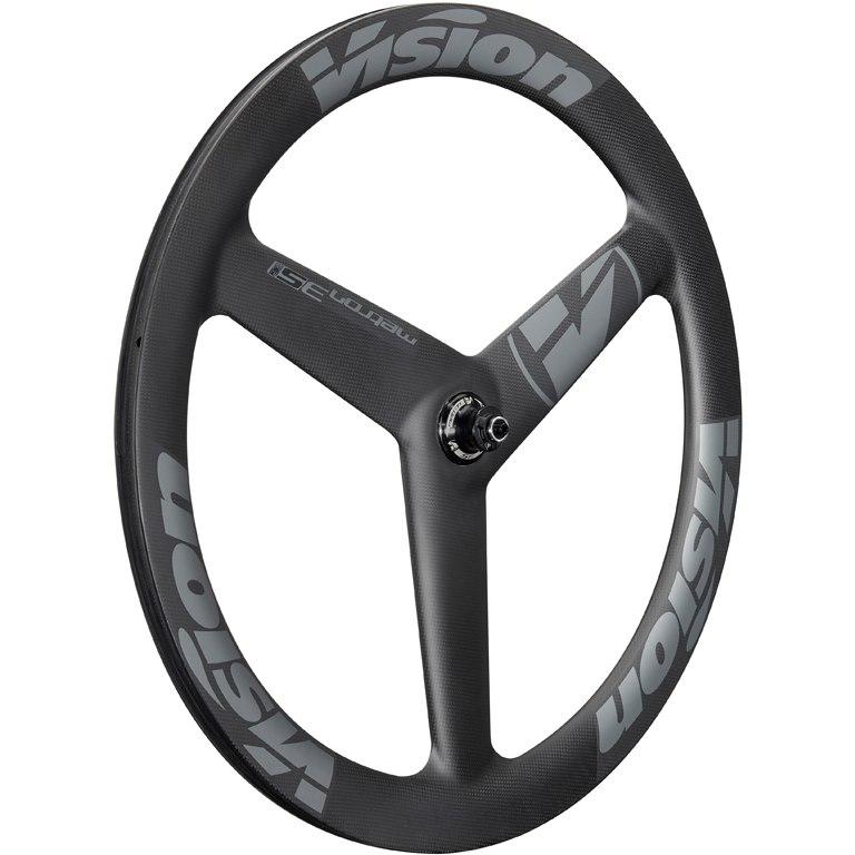 Vision Metron 3-Spoke Carbon Vorderrad - Schlauchreifen - Centerlock - 12x100mm/QR - schwarz