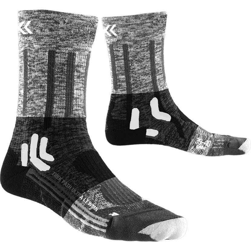 X-Socks Trek Path Ultra LT Socken für Damen - opal black/pearl grey