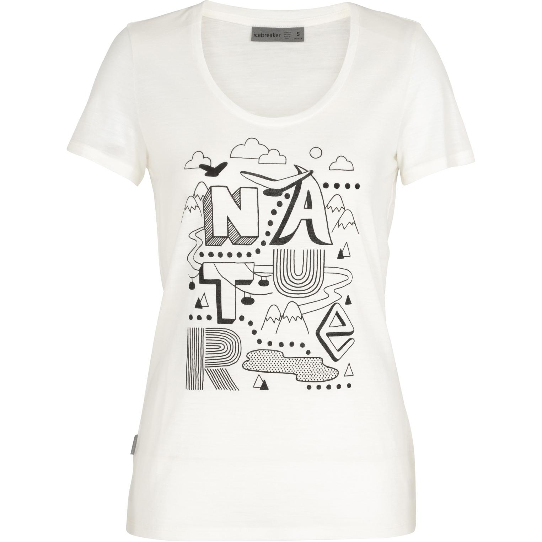 Produktbild von Icebreaker Tech Lite Scoop Nature Damen T-Shirt - Snow