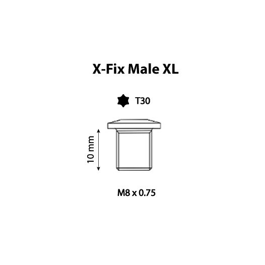 Image of Carbon-Ti X-Fix XL Chainring Fixing Bolt - Male - 1 Piece - black
