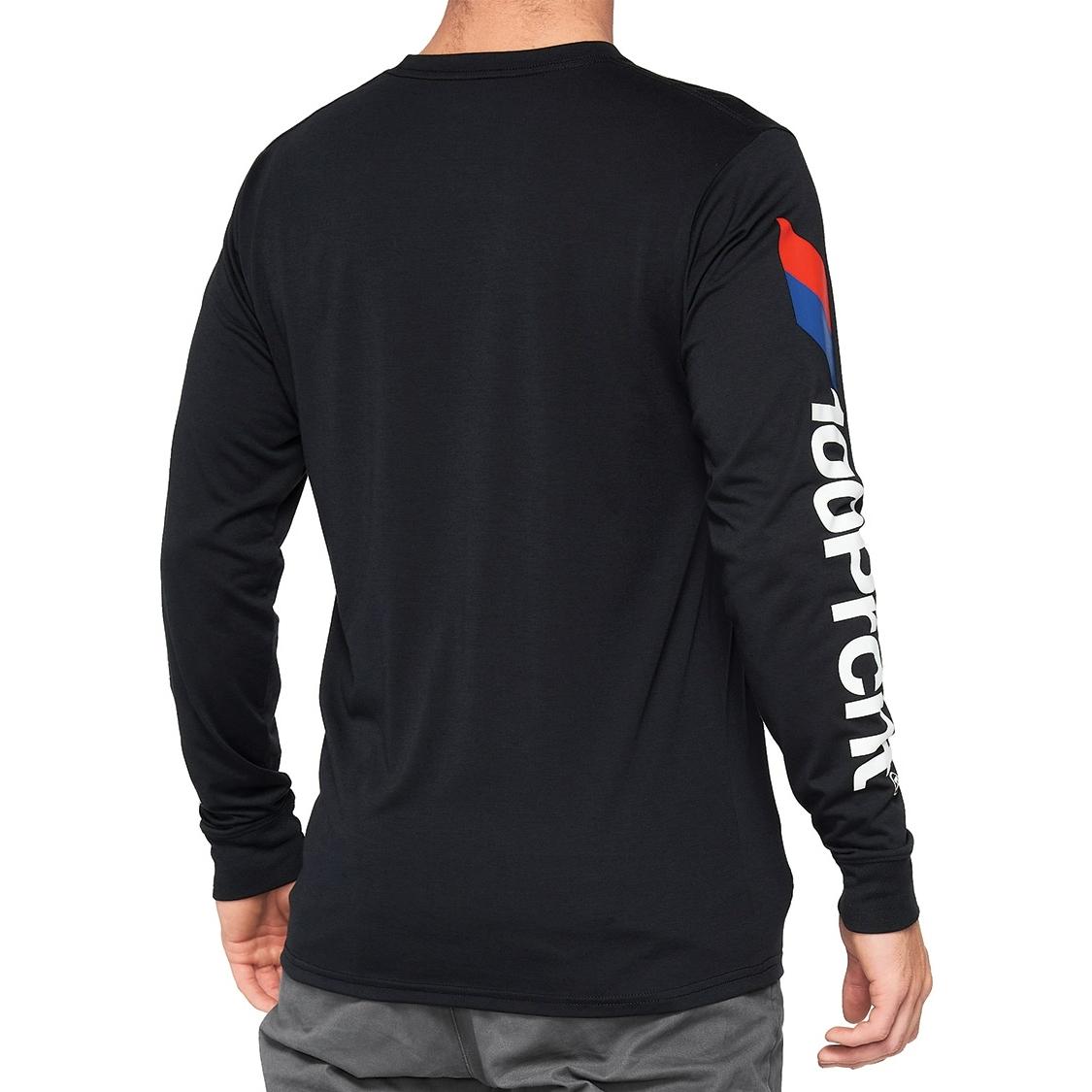 Imagen de 100% Aster Long Sleeve Tech Camisa - negro
