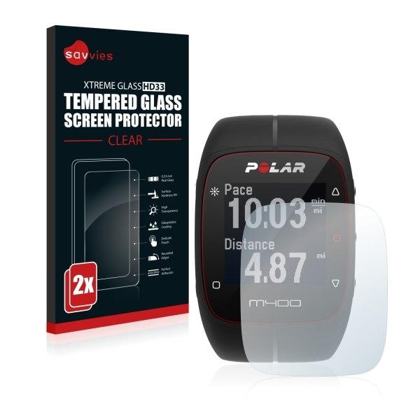 Bedifol Savvies® HD33 Glass Screen Protector for Polar M400 (2 Pcs.)