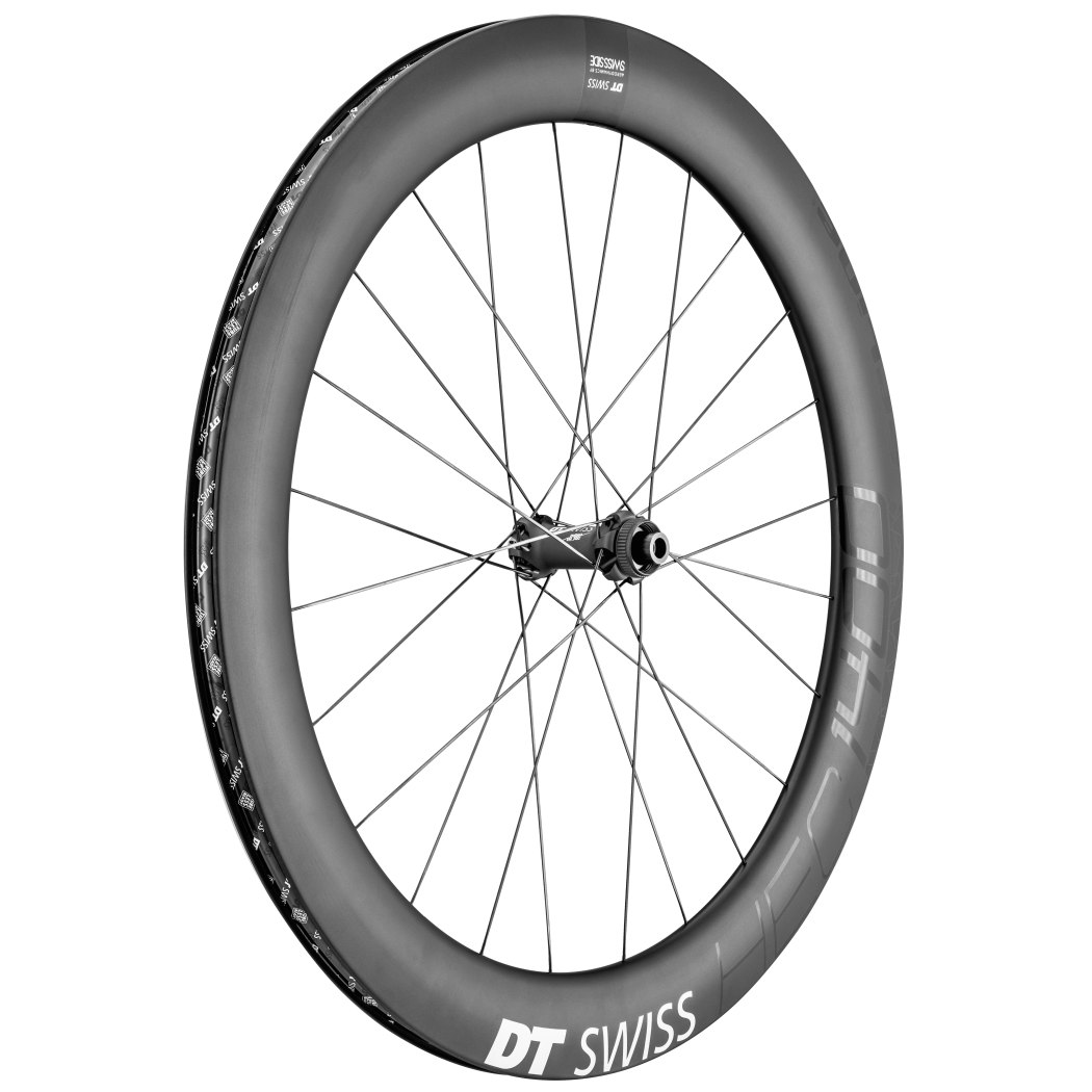 "Image of DT Swiss HEC 1400 Spline Carbon db 62 - 29"" / 700C Front Wheel - Clincher - Centerlock / 6 Bolt - 12x110mm Boost"