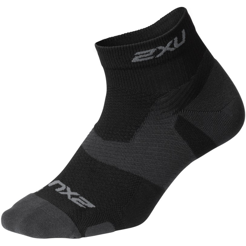 2XU Vectr Light Cushion 1/4 Crew Socks - black/titanium