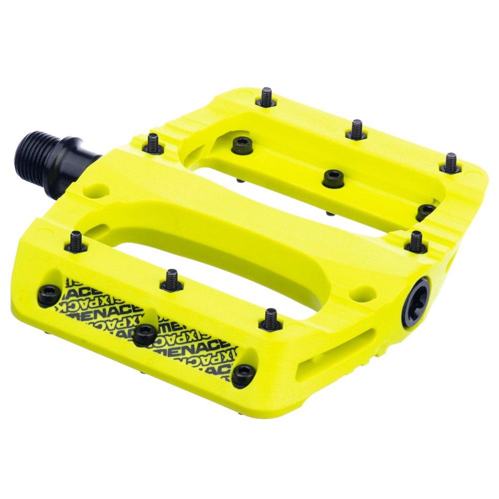 Sixpack Menace PA Flat Pedal - neon yellow