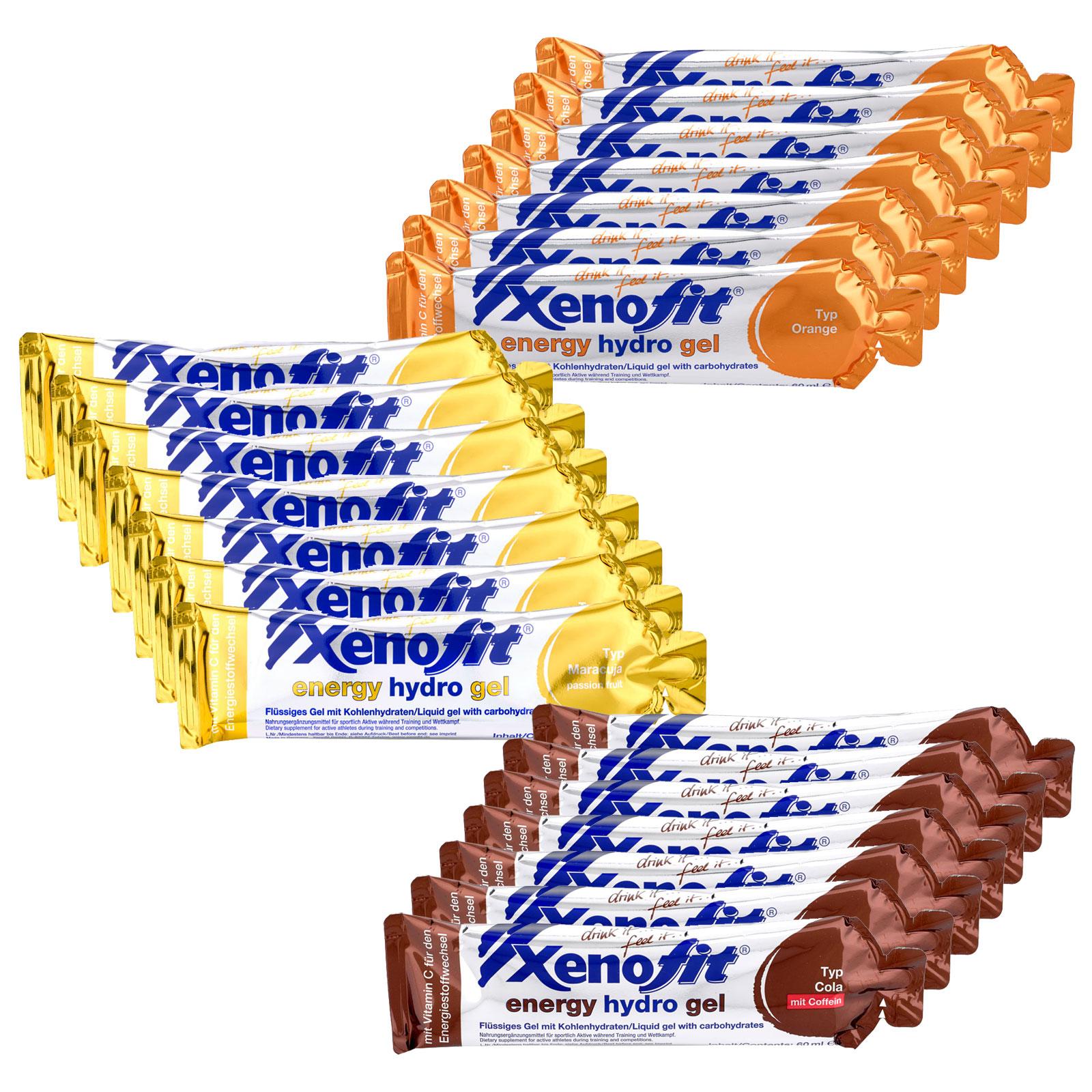 Xenofit Energy Hydro Gel mit Kohlenhydraten - Mixed Box - 21x60ml