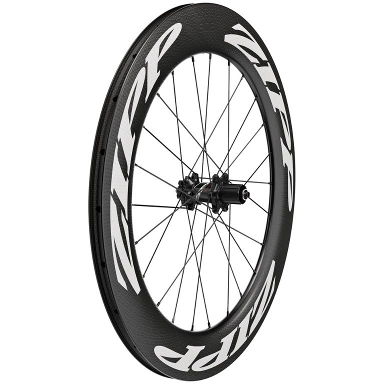 Image of ZIPP 808 Firecrest Carbon Rear Wheel - Tubeless - Clincher - 6-Bolt - 12x142mm / QR - white