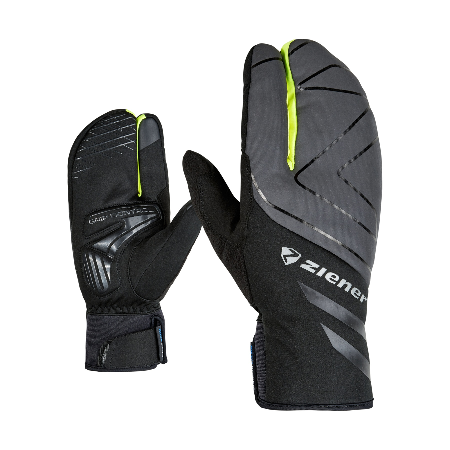 Image of Ziener Dalyo AS Touch Bike Gloves - poison yellow