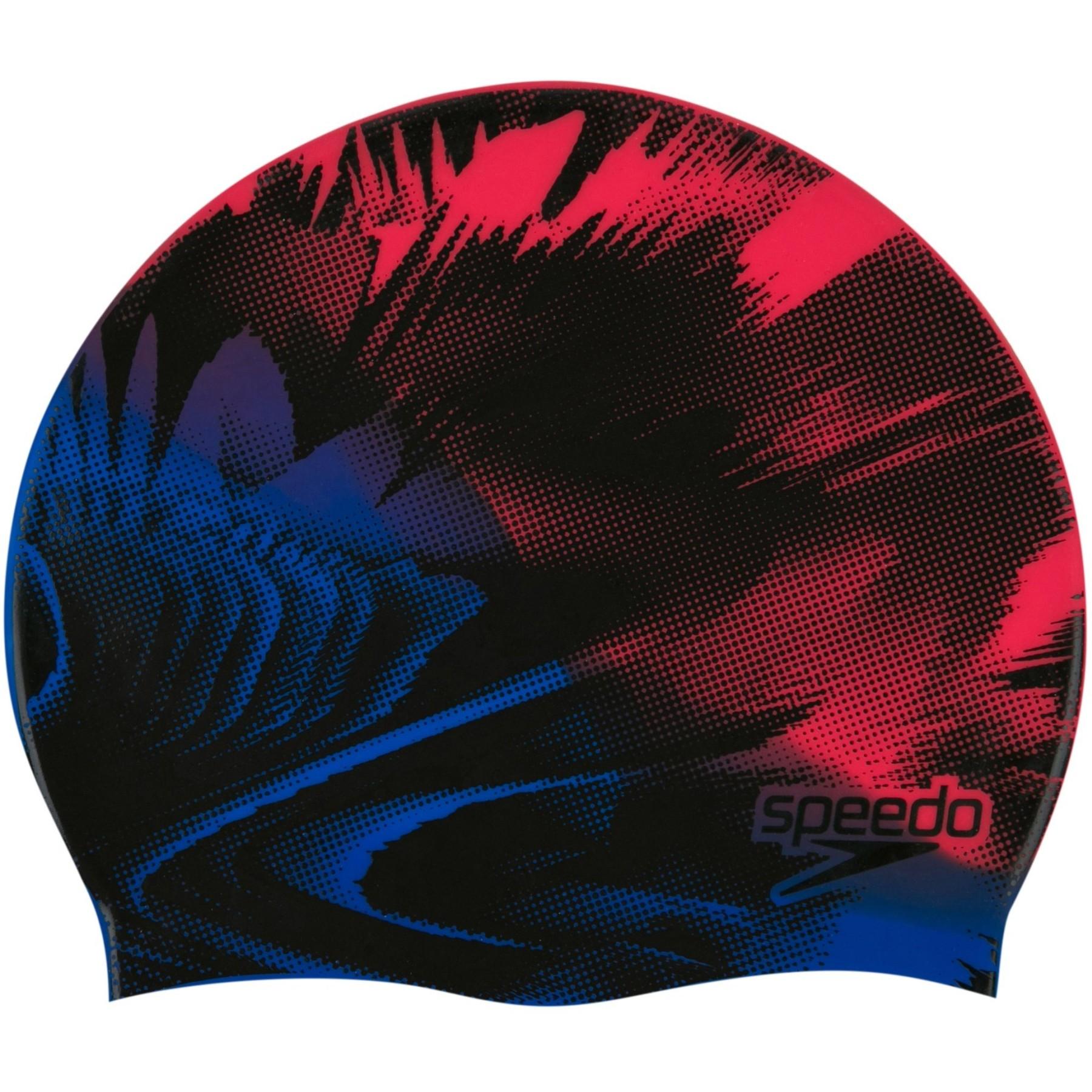 Produktbild von Speedo Slogan Print Badekappe - fed red/blue flame/black