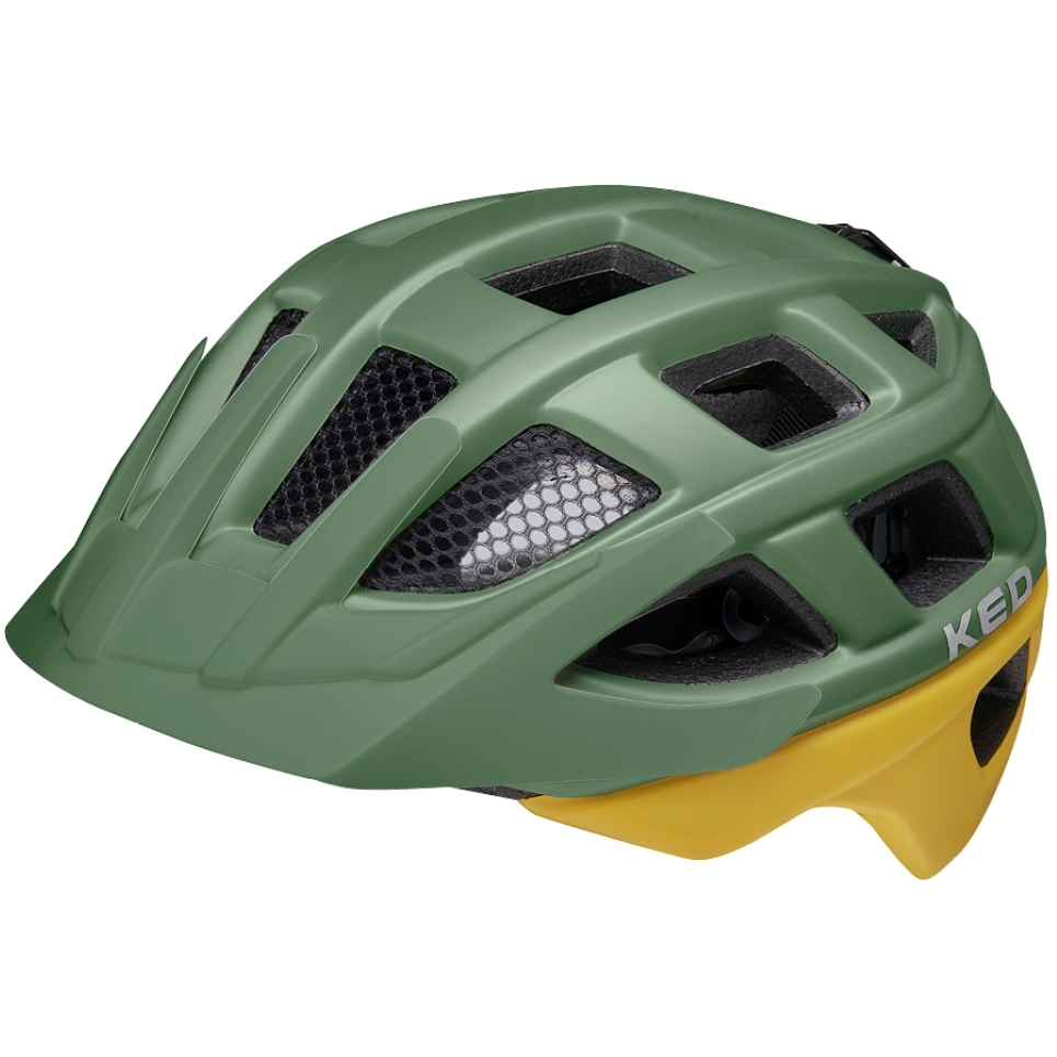 KED Kailu Helm - green yellow matt