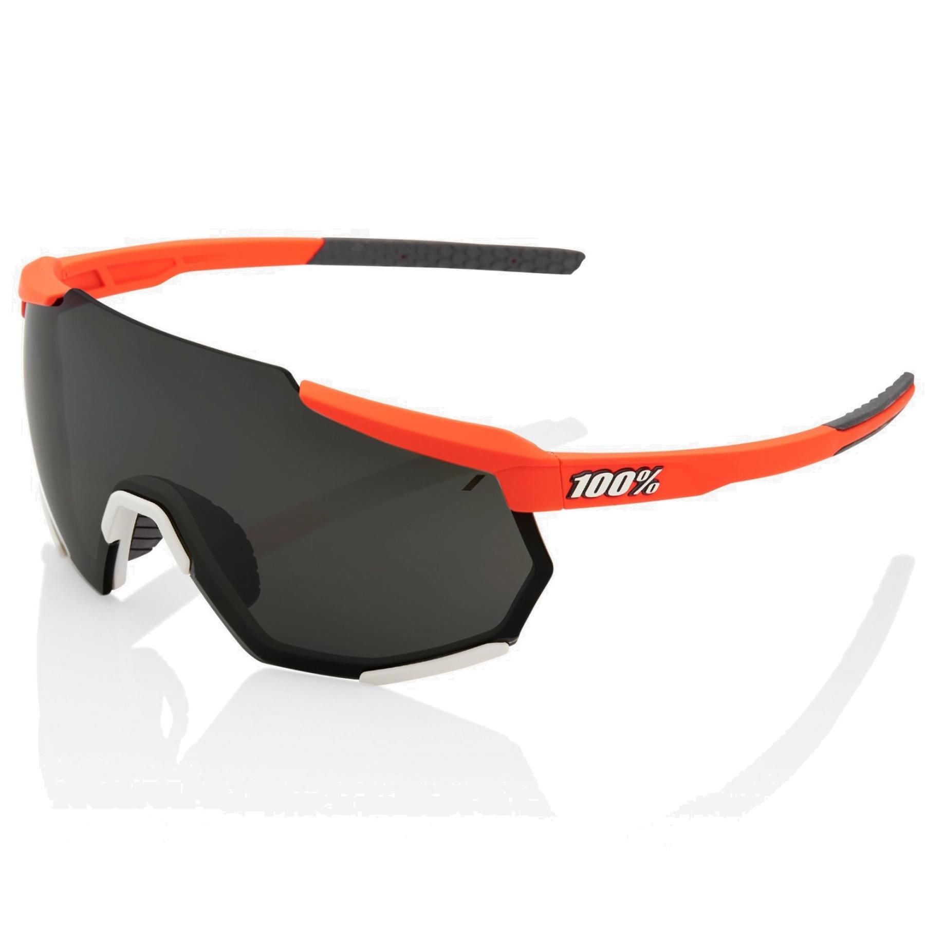 100% Racetrap Mirror Gafas - Soft Tact Oxyfire/Black + Clear