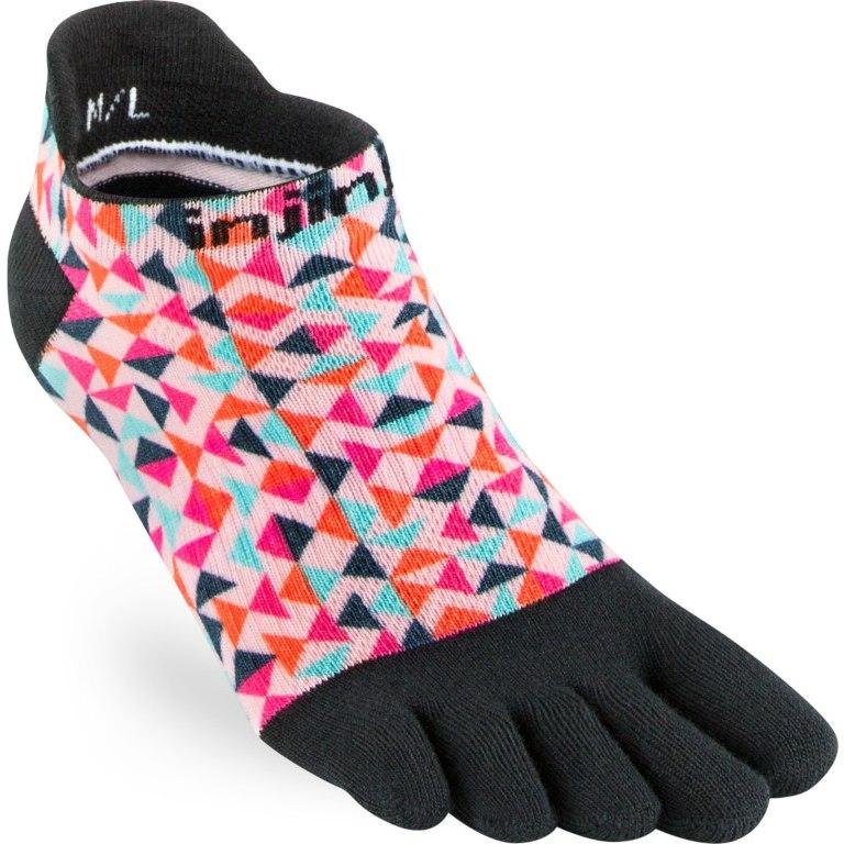Injinji Women's Run Lightweight No-Show Socks - spill