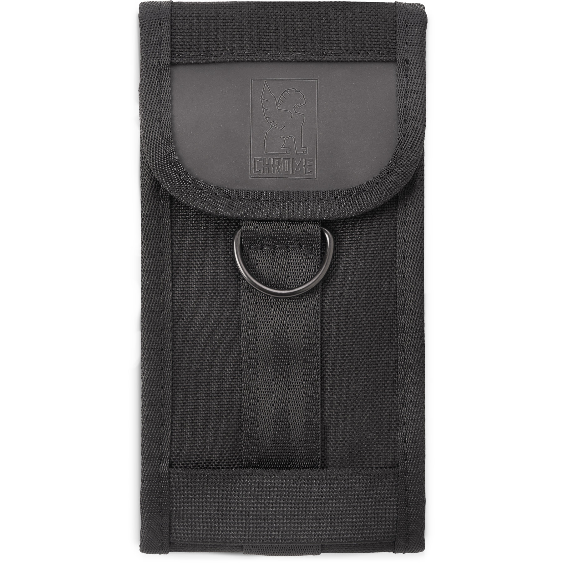 CHROME Phone Pouch Large - Black/Black