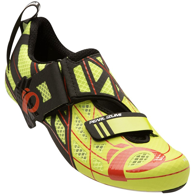 PEARL iZUMi Men's Tri Fly P.R.O. v3 Carbon Triathlonschuh 15317001 - lime punch / black - 4XH