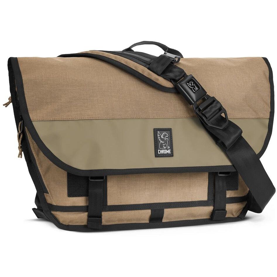 Foto de CHROME Buran III Laptop Messenger Bag - 24L Bolsa de mensajería - stone grey