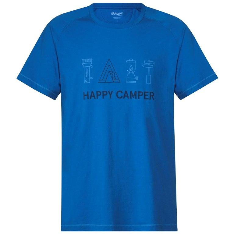 Bergans Happy Camper Tee - Fjord/Dark Steel Blue/Summersky