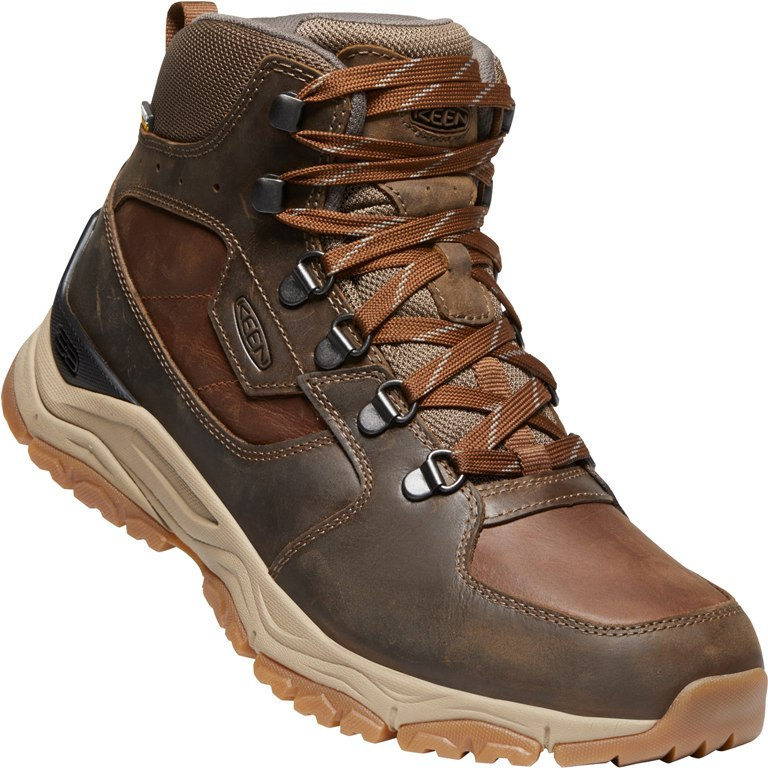 Image of KEEN Innate Leather Mid Waterproof Men's Hiking Ankle Boot - Musk