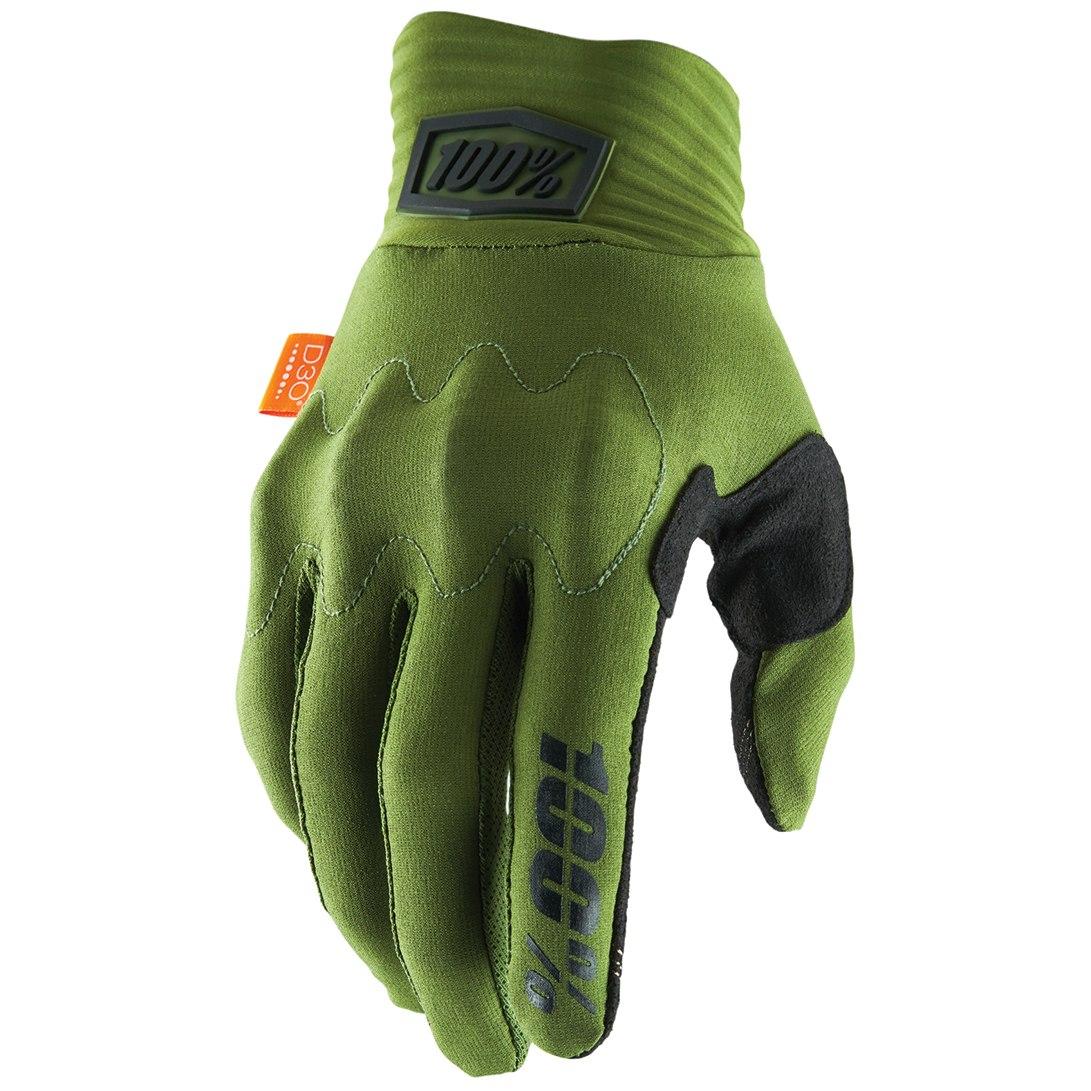 100% Cognito D30 Glove - Army Green/Black